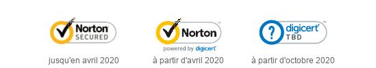 Évolution du sceau de confiance DigiCert
