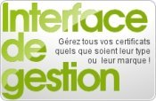 Interface de gestion de certificats SSL