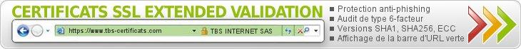 Les certificats SSL Extended Validation, la meilleure solution de sécurité SSL du marché